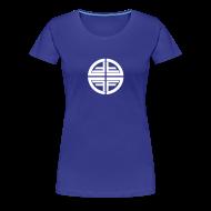 T-Shirts ~ Women's Premium T-Shirt ~ T-Shirt women, White Disk