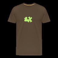 T-Shirts ~ Männer Premium T-Shirt ~ Shirt Ente mit X, hellgrün, vorne