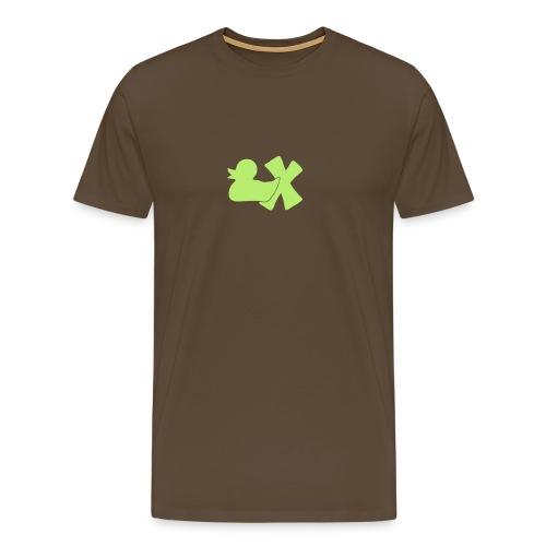 Shirt Ente mit X, hellgrün, vorne - Männer Premium T-Shirt