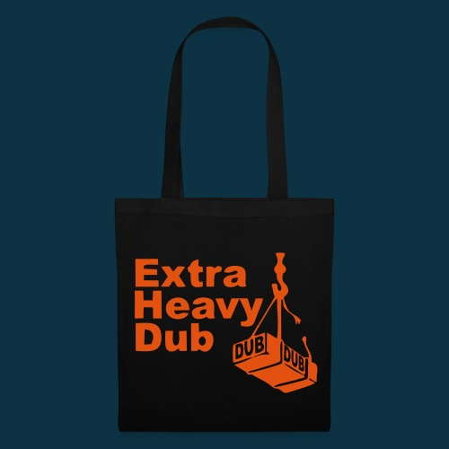 Extra Heavy Dub (orange on black) - Tote Bag