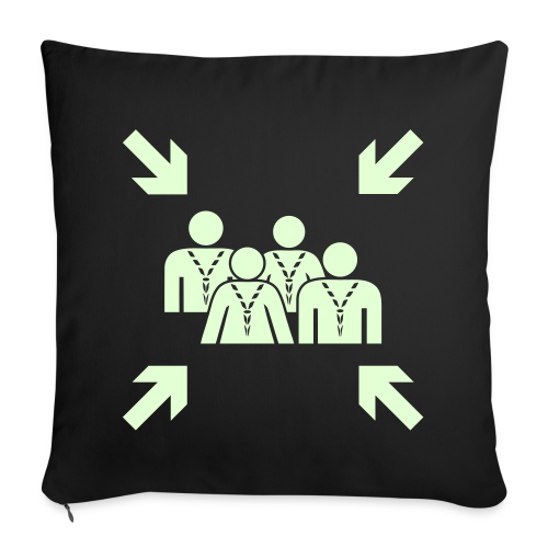 Assembly Point - glowing - Sofa pillow cover 44 x 44 cm