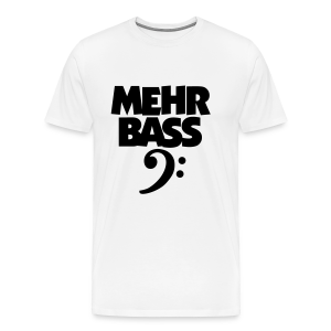Mehr Bass T-Shirt (Weiß/Schwarz) - Männer Premium T-Shirt