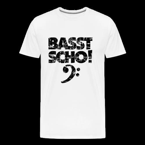 Basst Scho Vintage (Schwarz) S-5XL Bass T-Shirt - Männer Premium T-Shirt
