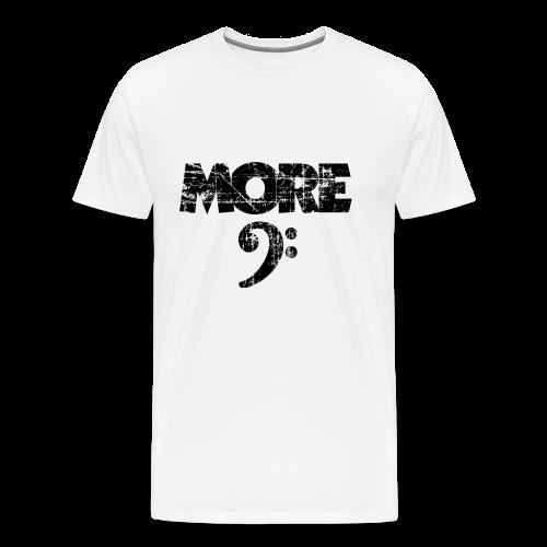 More Bass Bassschlüssel (Vintage Schwarz) S-5XL T-Shirt - Männer Premium T-Shirt