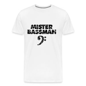 Mister Bassman Bassschlüssel (Vintage Schwarz) S-5XL T-Shirt - Männer Premium T-Shirt