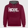 HOPE - Rom 8 24 - 1 Color Vector Hoodies & Sweatshirts - Contrast Colour Hoodie