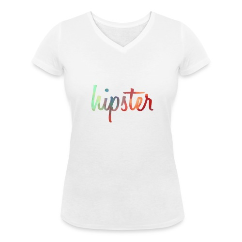 HIPSTER SHIRT - Women's Organic V-Neck T-Shirt by Stanley & Stella