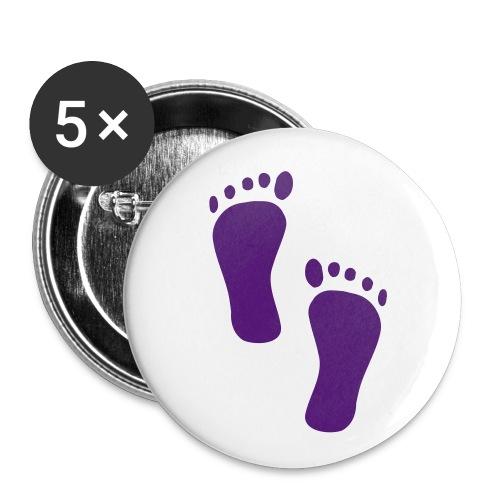 Barfuß-Button klein - Buttons klein 25 mm