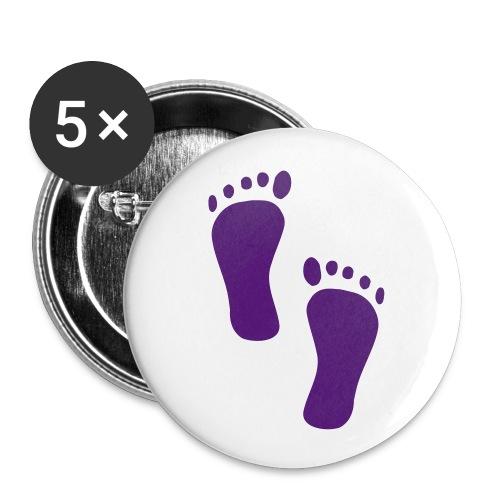 Barfuß-Button groß - Buttons groß 56 mm