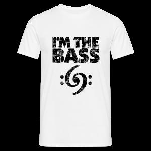 I'm the Bass Double Clef (Vintage Schwarz) T-Shirt - Männer T-Shirt