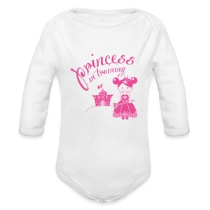 Princess in training onesie - Organic Longsleeve Baby Bodysuit