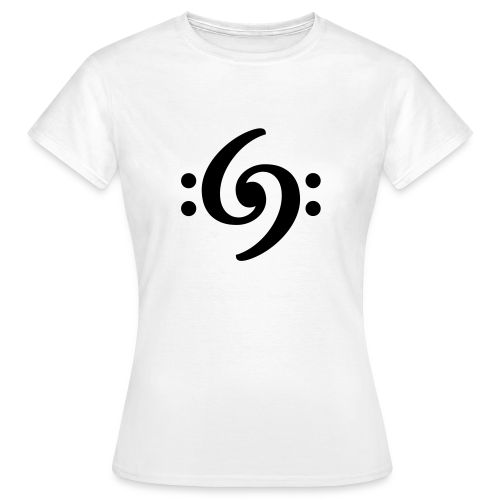 Double Bass Clef T-Shirt - Frauen T-Shirt