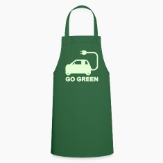 GO GREEN ~ DRIVE ELECTRIC CARS  Aprons