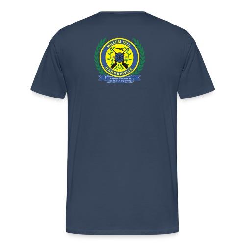 Groot T-shirt met logo hoog achterop - Mannen Premium T-shirt