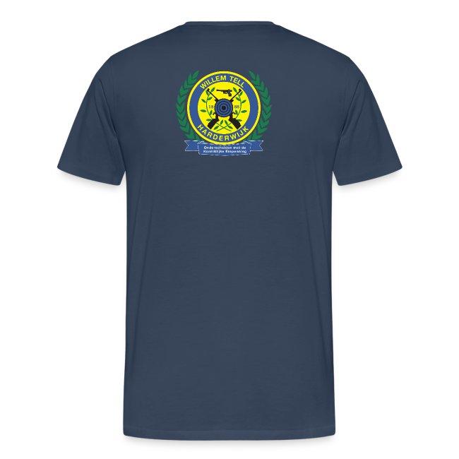 Groot T-shirt met logo hoog achterop