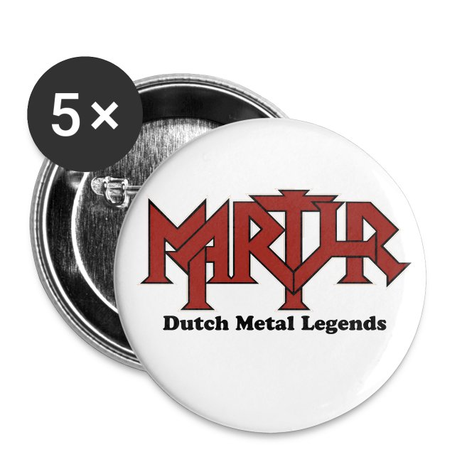 MARTYR buttons red logo (5 pack)