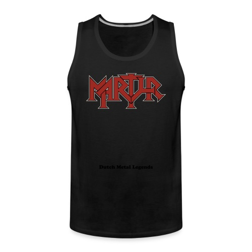 MARTYR  red logo male Tank Top - Mannen Premium tank top