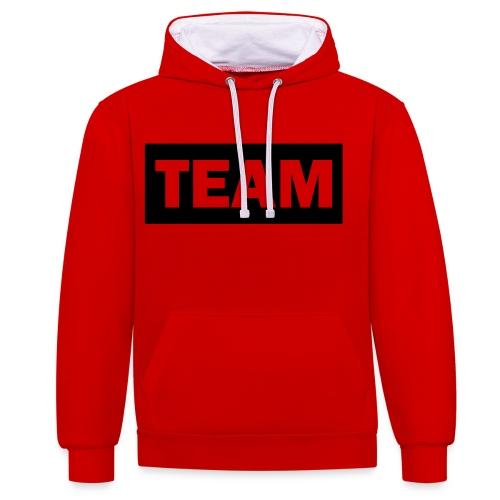 Team - Contrast Colour Hoodie