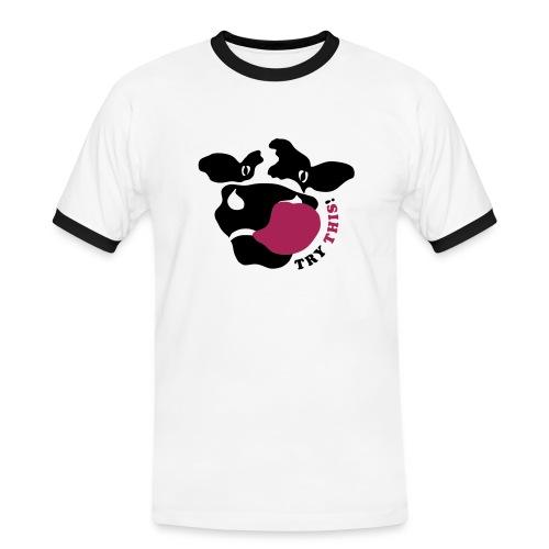 crazycow-sportyshirt! - Männer Kontrast-T-Shirt