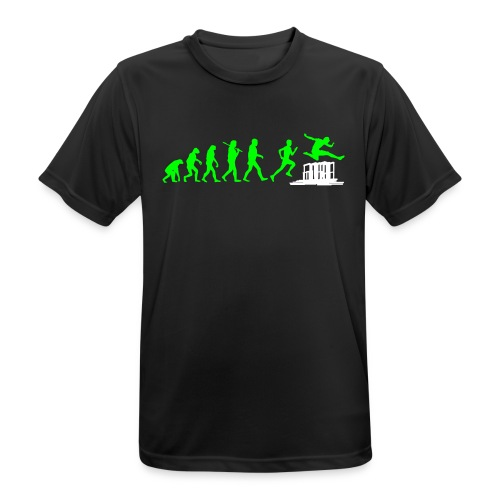 evolution - run & jump - obstacles / Hürden (black, green, white - Funktionsshirt) - Männer T-Shirt atmungsaktiv