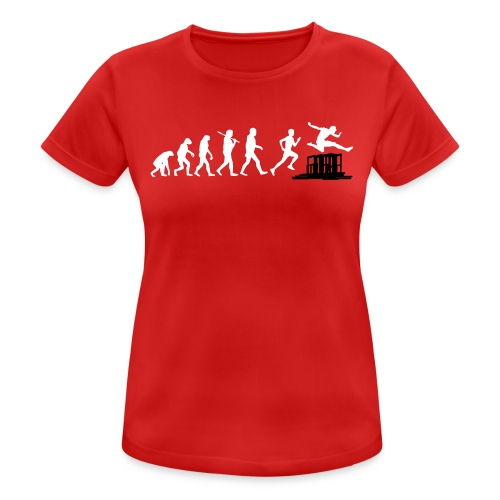 evolution - run & jump - obstacles / Hürden (red, white - Funktionsshirt girls) - Frauen T-Shirt atmungsaktiv