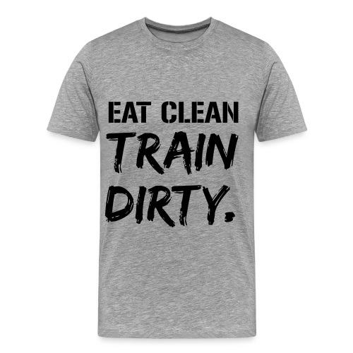 HIIT Men's T-Shirt (Gray) - Männer Premium T-Shirt