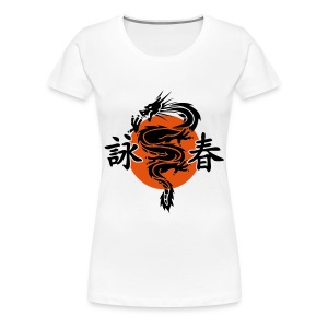 Wing Chun Dragon (Women's) - Women's Premium T-Shirt