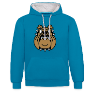 Sweat-shirts ~ Sweat-shirt contraste ~ Brutus, le Bulldog