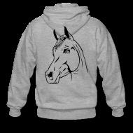 Sweat-shirts ~ Veste à capuche Premium Homme ~ Tête de cheval