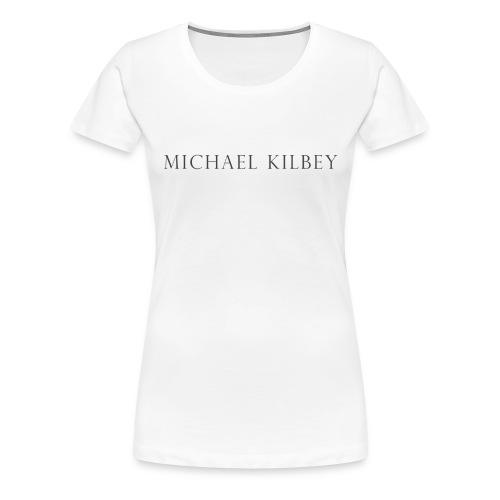 MK Premium Logo T-shirt (White) - Women's Premium T-Shirt