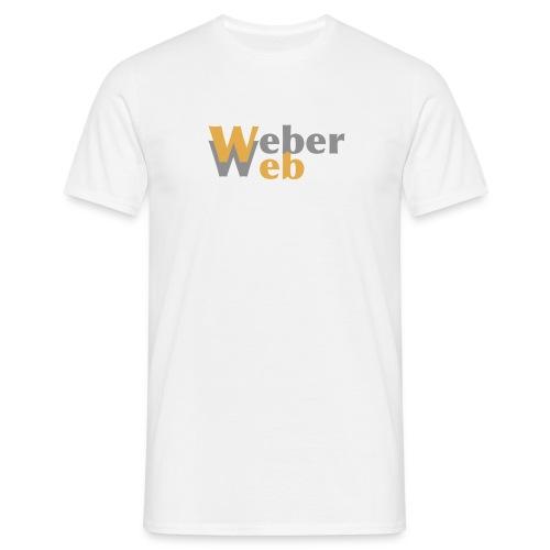 T-shirt, herre, hvit - T-skjorte for menn