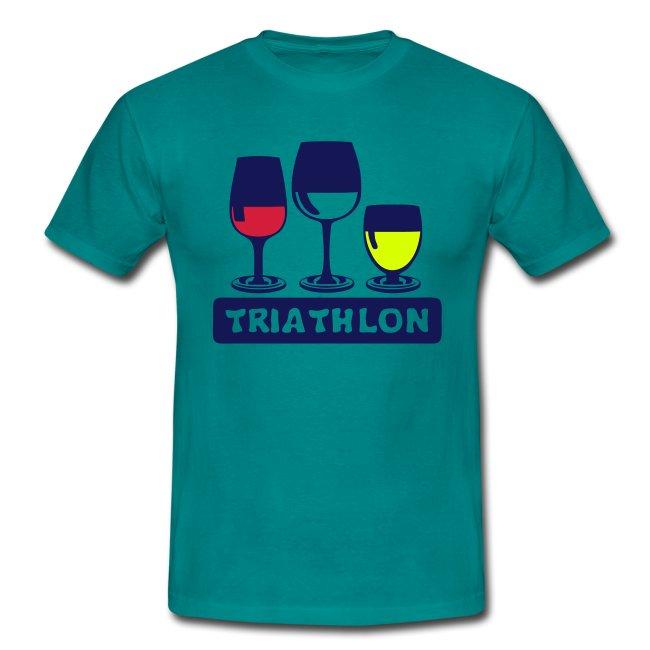 Shirt T Tee HumourTriathlon Humoristique Alcool cR54j3SALq