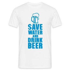 save water drink beer - T-shirt Homme