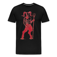 T-Shirts ~ Men's Premium T-Shirt ~ Wily Bo Walker - 'Walking with the Devil' Men's Tee
