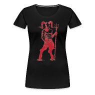 T-Shirts ~ Women's Premium T-Shirt ~ Wily Bo Walker - 'Walking with the Devil' Women's Tee