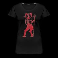 T-Shirts ~ Women's Premium T-Shirt ~ Wily Bo Walker - 'Walking with the Devil' Women's Tee