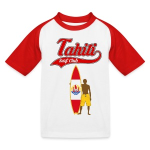 Tahiti Surfing - Kids' Baseball T-Shirt
