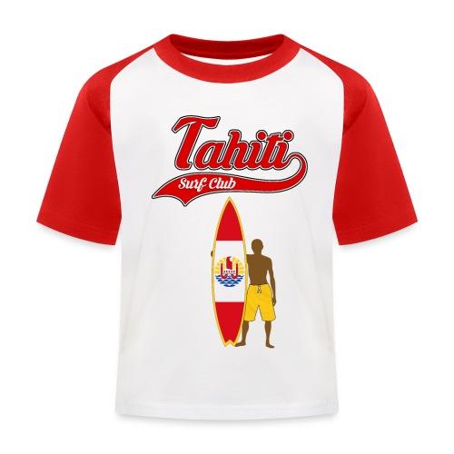 Tahiti Surfing - Kids' Baseball T-Shirt