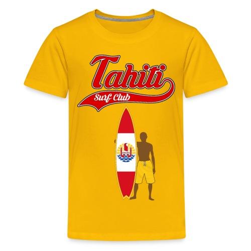 Tahiti Surfing - Teenage Premium T-Shirt