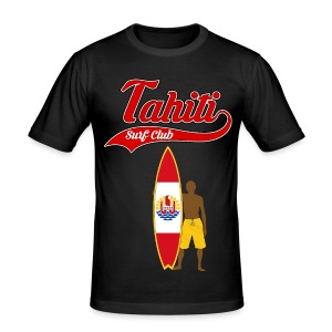 Tahiti Surfing - Men's Slim Fit T-Shirt