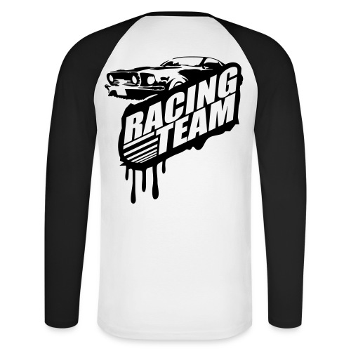 Racing Team Longshirt - Männer Baseballshirt langarm