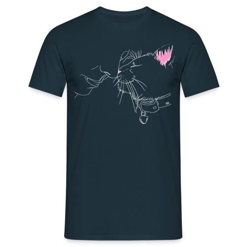 Men's T-Shirt- White Outline - Men's T-Shirt