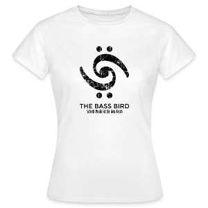 THE BASS BIRD T-Shirt (Damen Weiß/Schwarz) - Frauen T-Shirt