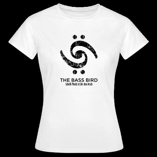 THE BASS BIRD T-Shirt (Damen Weiß/Schwarz) - Frauen T-Shirt
