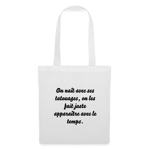 Cabas tatouage citation - Tote Bag