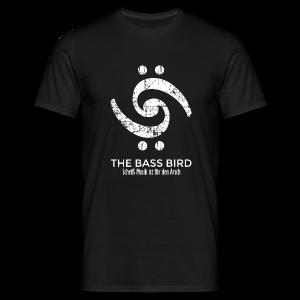 THE BASS BIRD T-Shirt (Herren Schwarz/Weiß) - Männer T-Shirt