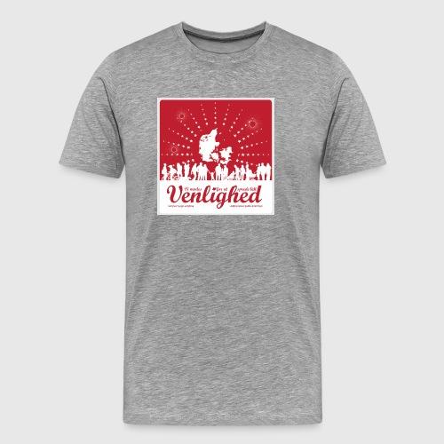 Mens t-shirt - Vi mødes for at sprede lidt venlighed - Herre premium T-shirt