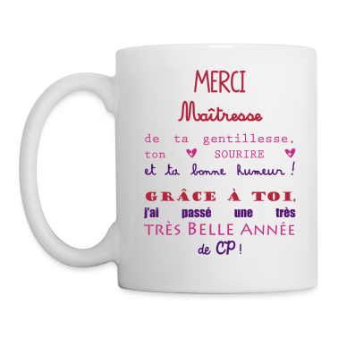 tasse merci ma tresse cadeau de fin d 39 ann e cp bouteilles et tasses spreadshirt. Black Bedroom Furniture Sets. Home Design Ideas