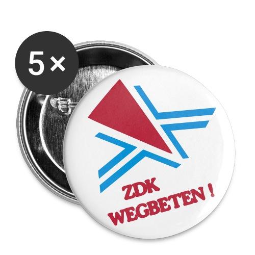 ZDK WEGBETEN! Buttons - Buttons klein 25 mm (5er Pack)
