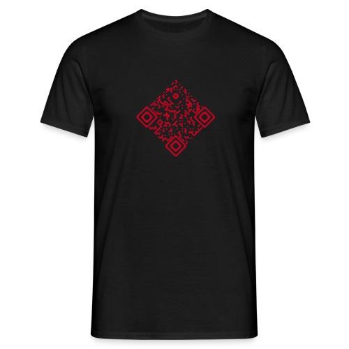 QR-Invers Front Rot Flock - Männer T-Shirt